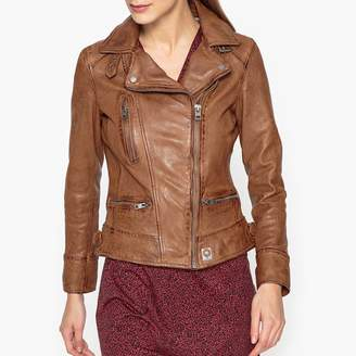 Oakwood Video Zip-Up Fitted Leather Jacket