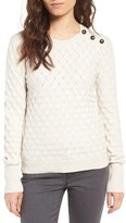 Hinge Women's Button Shoulder Sweater