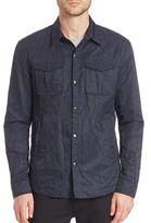 John Varvatos Crushed Racer Jacket