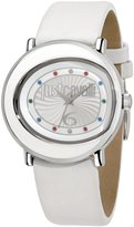 Just Cavalli Women's R7251186504 Lac Stainless Steel White Genuine Leather Strap Watch