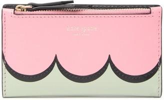 Kate Spade Intarsia Scallop Small Slim Bifold Wallet