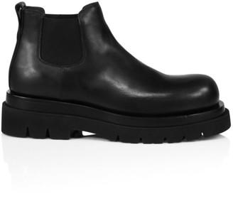 Bottega Veneta Platform Leather Chelsea Boots