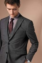 Next Grey Tailored Fit Textured Birdseye Suit: Trousers