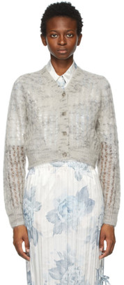 Acne Studios Grey Mohair Cropped Cardigan