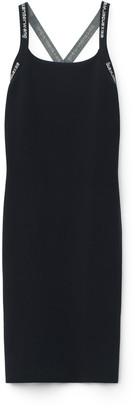 Alexander Wang Logo Trim Bodycon Dress