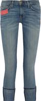 Current/Elliott The Beatnik patchwork mid-rise skinny jeans