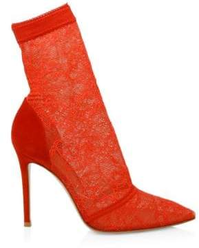 Gianvito Rossi Stretch Lace Sock Booties