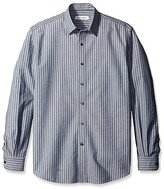 James Campbell Men's Atlanta Stripe Long Sleeve Sportshirt