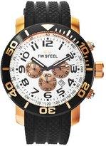 TW Steel Men's TW77 Grandeur Diver Black Rubber Chronograph Dial Watch