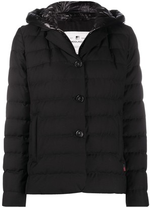 Woolrich Layered Quilted Down Jacket