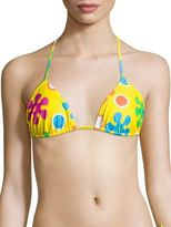 Moschino Two-Piece Floral-Print Triangle Bikini