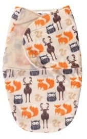 Hudson Baby Baby Boy Plush Swaddle Wrap