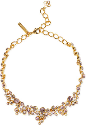Oscar de la Renta Gold-tone Crystal Necklace
