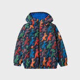 Paul Smith Boys' 2-6 Years Navy 'Dino' Print Packable Hooded Jacket