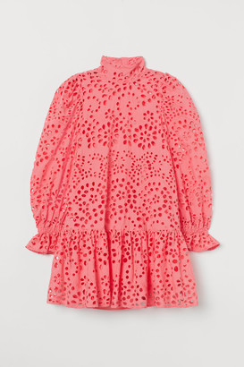 H&M Eyelet Embroidery Dress - Red