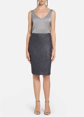 St. John Iridescent Sequin Knit Pencil Skirt