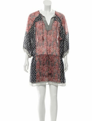 Ulla Johnson Silk Printed Dress white