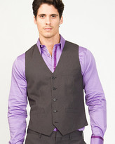 Le Château Stripe Wool Blend Contemporary Fit Vest