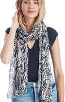 Sole Society Graphic Palm Print Scarf