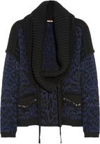Roberto Cavalli Jacquard chunky-knit cardigan
