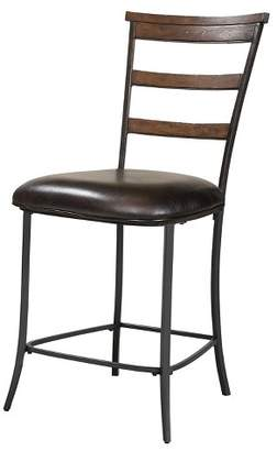 "Hillsdale Furniture Cameron Ladder Back 26"" Counter Stool Wood/Dark Chestnut"