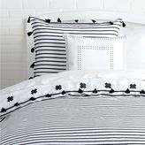 Dormify Signature Stripe Reversible Duvet Cover and Sham Set With Tassels
