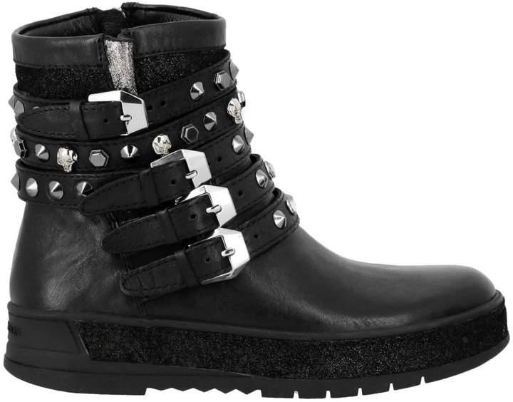 Crime London Flat Booties Shoes Women