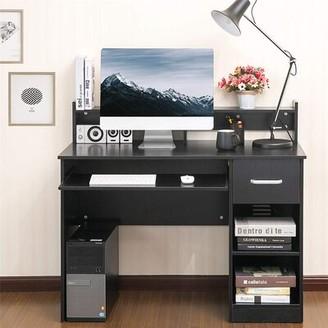 Ebern Designs Aksel-Endel Desk with Hutch Color: White