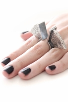 Low Luv by Erin Wasson Sandcast Sculpted Ring in Silver