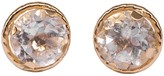Lily Flo Jewellery Large 4Mm White Sapphire Stud Earrings On Solid Gold
