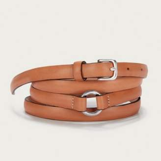 The White Company Leather Double Wrap Belt, Tan, S