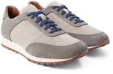 Loro Piana - Weekend Walk Two-tone Suede Sneakers