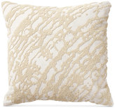"Donna Karan Rhythm Beaded Ivory 16"" Square Decorative Pillow"