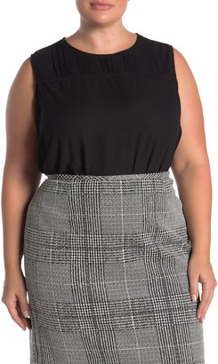 Calvin Klein Sleeveless Pullover Shell Tank (Plus Size)