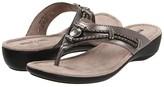 Minnetonka Silverthorne Thong (Black Leather) Women's Sandals