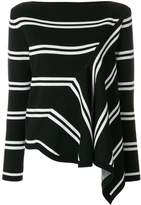 Sport Max Code striped asymmetric blouse