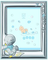 Silver Touch USA Sterling Silver Picture Frame and Booklet Set, Baby Boy