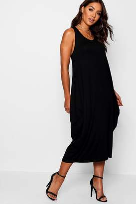 boohoo Racer Back Ruched Maxi Dress