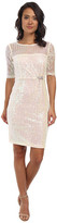 Alejandra Sky Fawn Sequin 3/4 Sleeve Dress