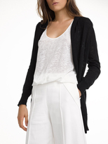 White + Warren Cotton Hooded Pocket Cardigan