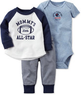 Carter's Baby Boys' 3-Pc. Mommy's Little All-Star T-Shirt, Bodysuit & Pants Set