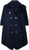 Tagliatore double-breasted cape coat