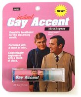 Accoutrements Blue Q Instant Gay Accent Breath Spray