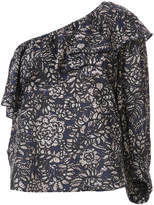 Apiece Apart one shoulder printed blouse