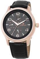 Burgmeister Men's Quartz Stainless Steel and Leather Casual Watch, Color:Black (Model: BMT04-322)