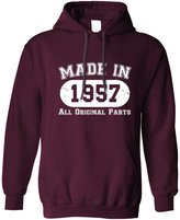 Tim And Ted Made In 1957 All Original Parts Distressed Sixtieth 60th Birthday Unisex Hoodie