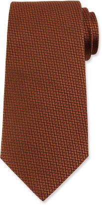 Ermenegildo Zegna Men's Broken Chevron Silk Tie
