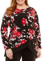 Liz Claiborne Long Sleeve Tier Tunic- Plus