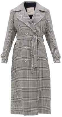 Giuliva Heritage Collection The Christie Prince Of Wales-check Wool Trench - White Navy