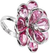 Body Candy Pink Faceted Blooming Flower Adjustable Ring